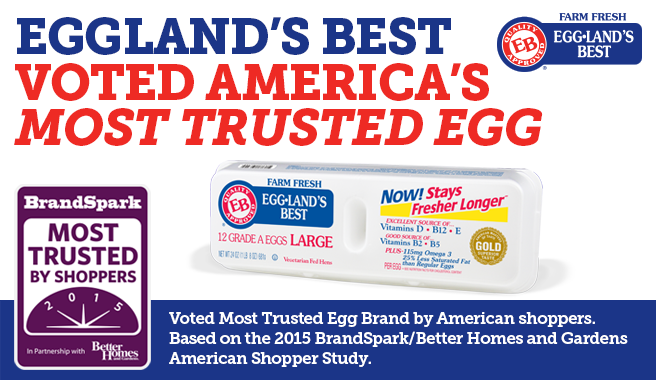 Eggland's Best Voted America's Most Trusted Egg