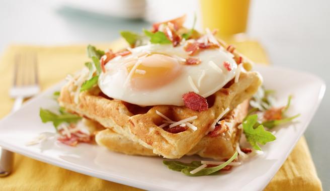 Parmesan Potato Waffles