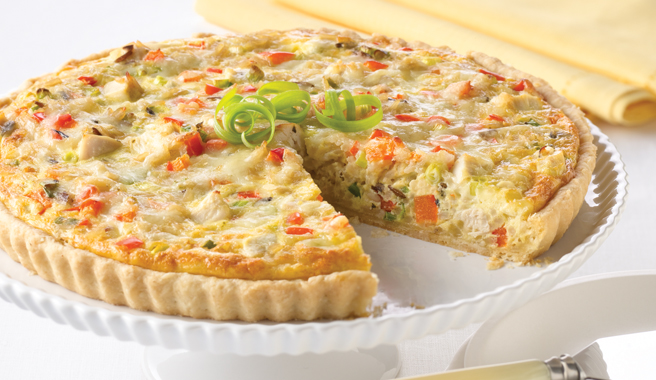 Chicken & Rice Quiche Tart