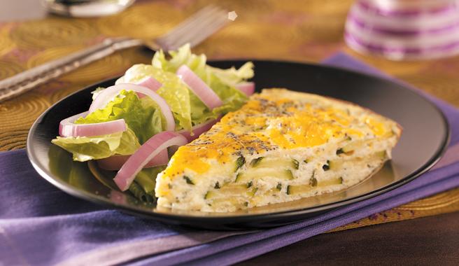 Ricotta & Cheddar Zucchini Frittata