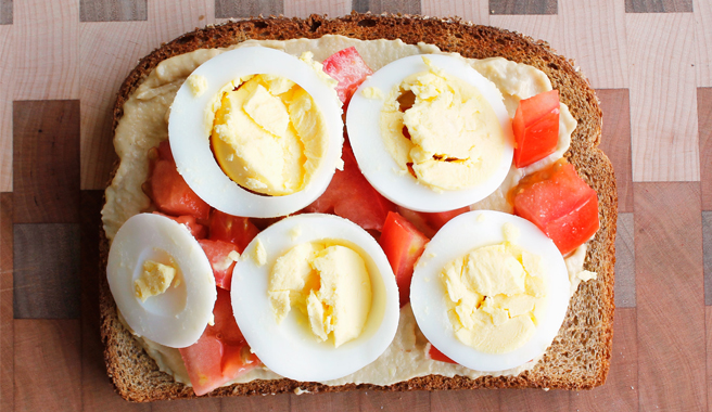 EB Hummus Breakfast Toast