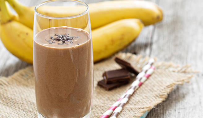 Chocolate Peanut Butter Wake Up Smoothie