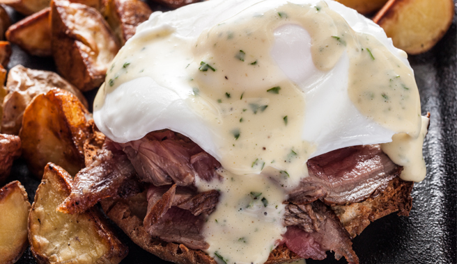 Saucy Steak and Eggs Benedict