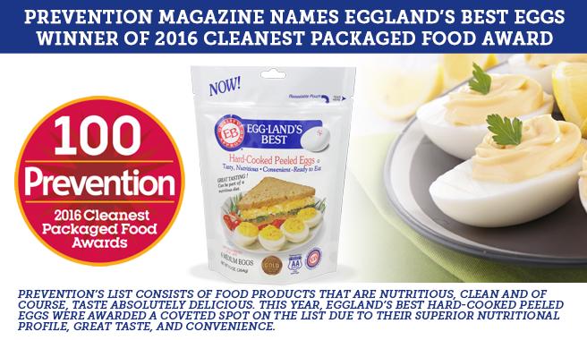 Prevention Magazine Names Eggland's Best Eggs  Winner of 2016 Cleanest Packaged Food Award