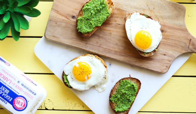Pea Pesto Open-Faced Sandwiches