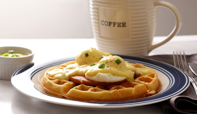 Waffle Eggs Benedict