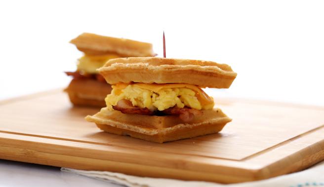Mini Waffle Breakfast Sandwich