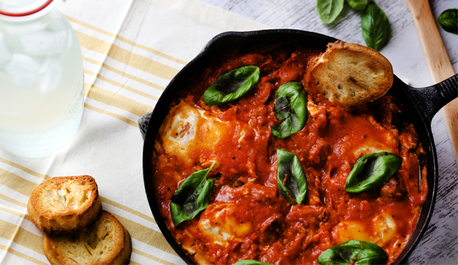 Eggs in Purgatory with Chorizo