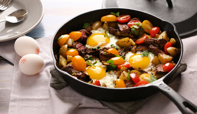 Steak and Egg Hash