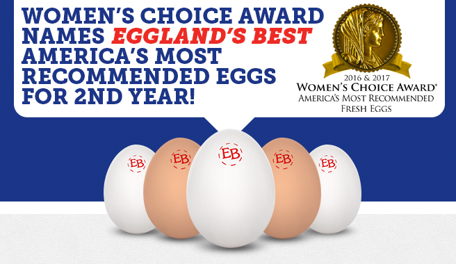 Women's Choice Award<sup>®</sup> Names Eggland's Best America's Most Recommended<sup>™</sup> Eggs For Second Consecutive Year