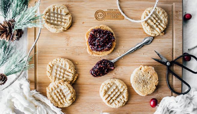 Gluten Free PB&J Cookies
