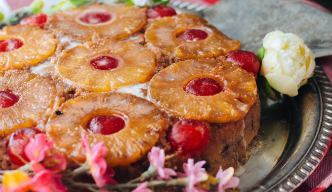 Gluten-Free Grilled Pineapple Upside-Down Cake