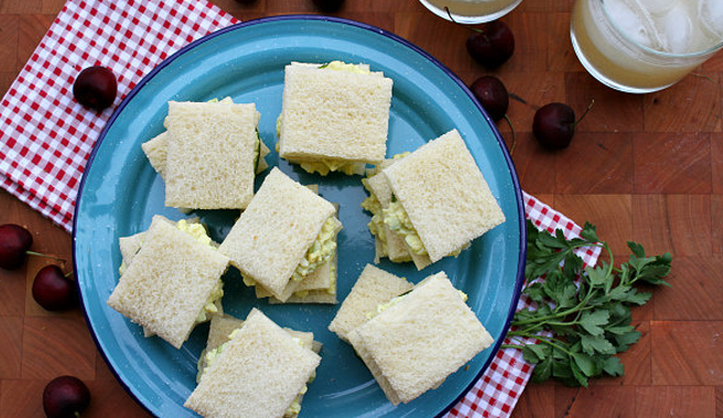 Avocado Egg Salad Tea Sandwiches