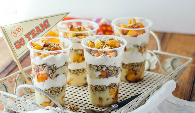 Peach & Vanilla Bean Custard Parfaits To-Go