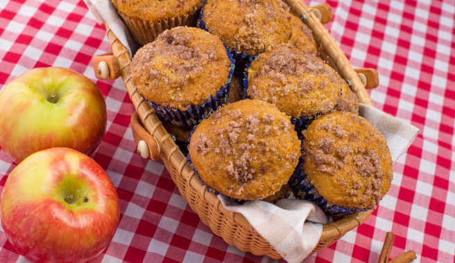 Streusel Topped Autumn Harvest Muffins