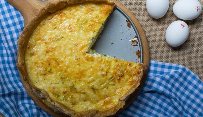Salmon & Goat Cheese Deep Dish Quiche
