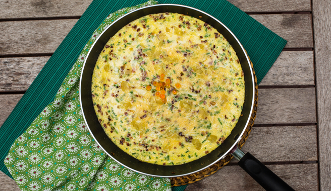 Dungeness Crab Frittata