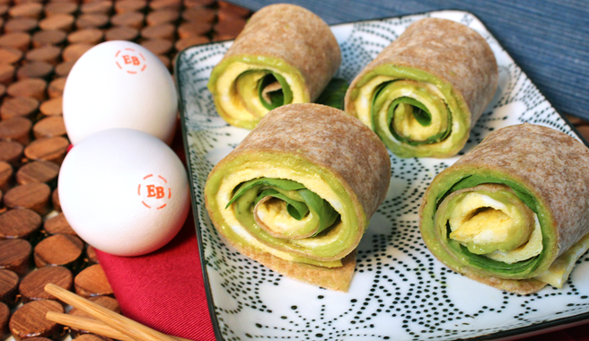Spinach & Avocado Egg Sushi