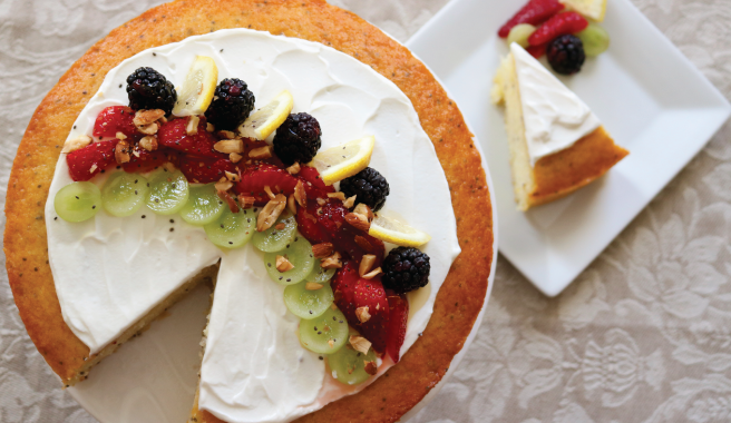 Fruit & Yogurt Smoothie Bowl Cake