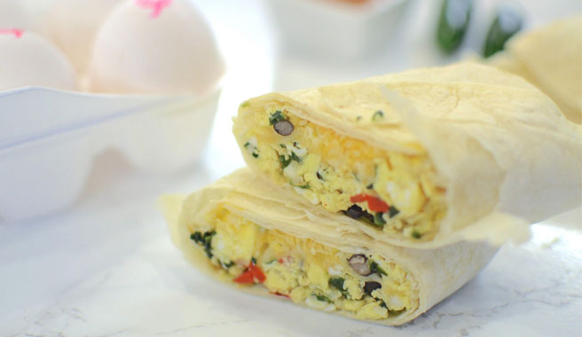 Make-Ahead Southwest Breakfast Burritos