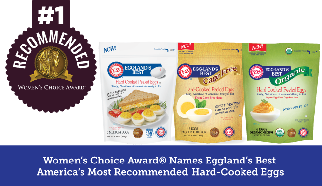 Women's Choice Award<sup>&reg;</sup> Names Eggland's Best America's Most Recommended&#x2122; Hard-Cooked Eggs