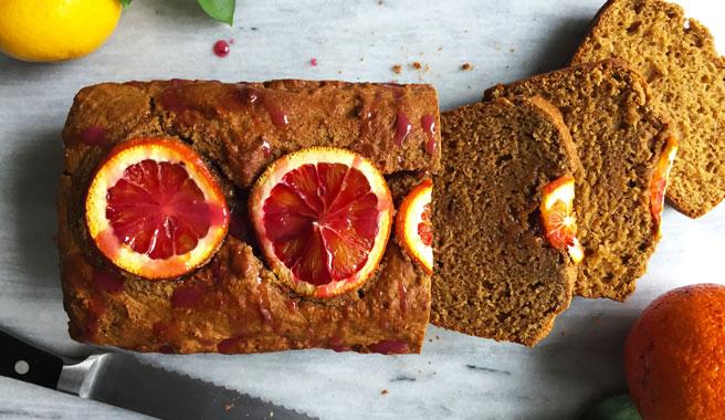 Citrus Olive Oil Loaf with Blood Oranges