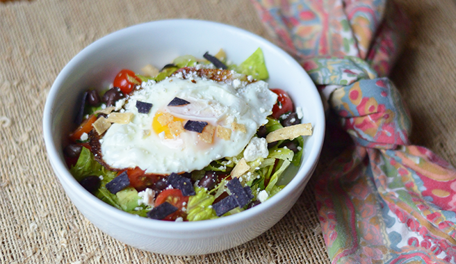 Huevos Rancheros-Inspired Chopped Salad