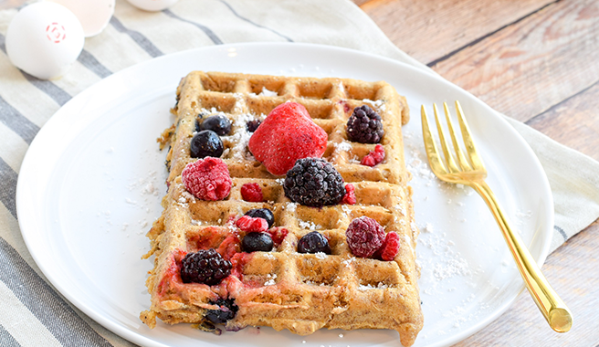 Triple Berry Lactation Waffles