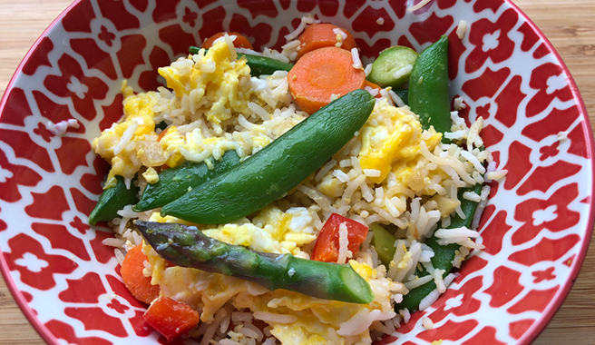 Veggie Stir-Fry with Sesame Scrambled Egg