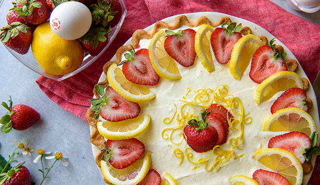 Strawberry Lemon Icebox Pie