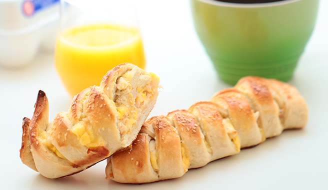 Ham & Egg Pretzel Braid
