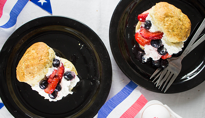 Double Berry Shortcakes