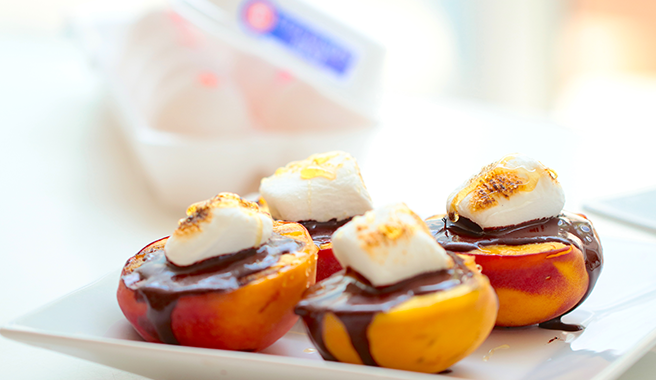 Grilled Peach S'Mores