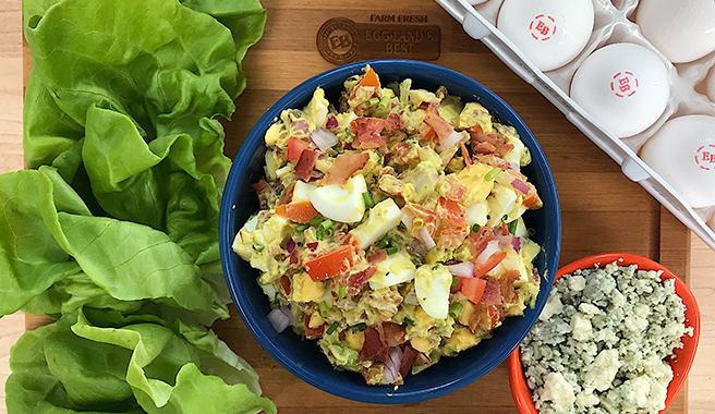 Cobb Egg Salad in Lettuce Cups