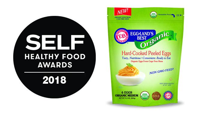 SELF Names Eggland's Best Organic Hard-Cooked Peeled Eggs a 2018