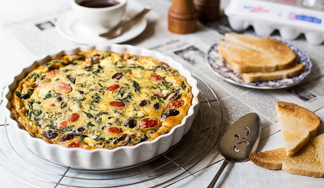 Greek Omelet Bake
