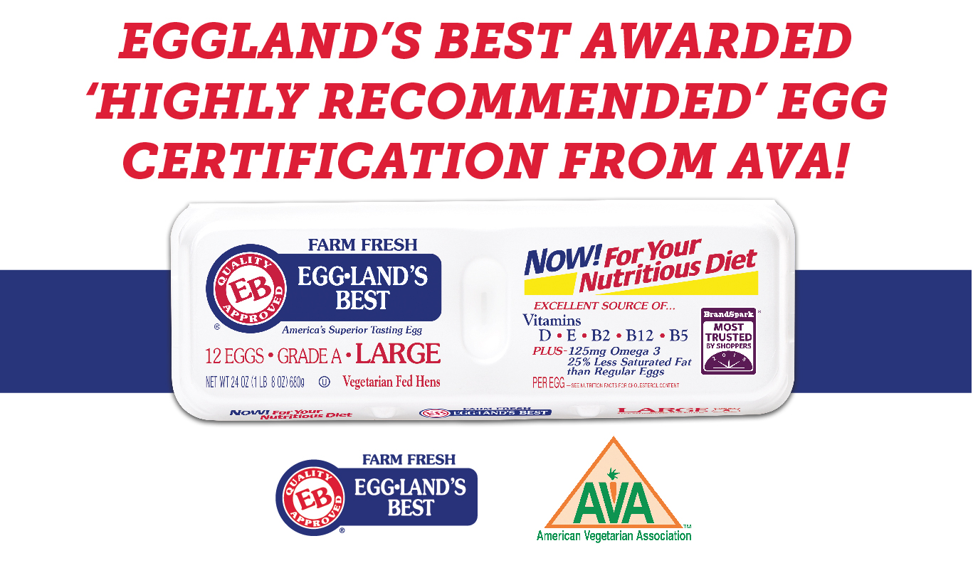 American Vegetarian Association Honors Eggland's Best with 'Highly Recommended' Certification