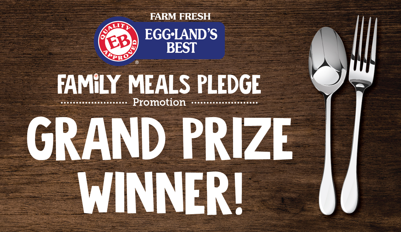 "Announcing the ""Family Meals Pledge"" Grand Prize Winner"