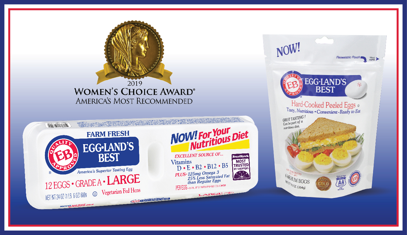For 5th consecutive year, Eggland's Best is named America's Most Recommended™ Egg