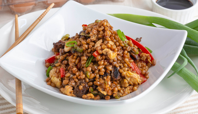 Beef Fried Wheatberries