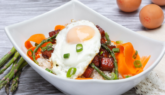 Jersey-Style Korean Pork Roll Bowls